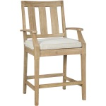 Clare View Bar Stool with Cushion (Set of 2)