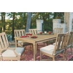 Clare View Dining Table with Umbrella Option