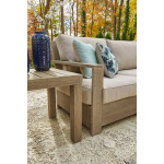 Silo Point Right-Arm Facing/Left-Arm Facing Outdoor Loveseat with Cushion (Set of 2)