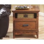 Cross Island Island End Table with Power Outlets