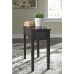 Solid Wood Chairside End Table with USB Ports & Outlets