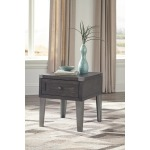 Todoe End Table with USB Ports & Outlets