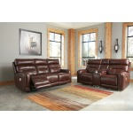 Sessom Power Reclining Loveseat with Console