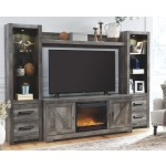 Wynnlow 4-Piece Entertainment Center with Fireplace