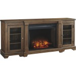 "Flynnter 75"" TV Stand with Electric Fireplace"