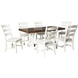 VALEBECK TABLE AND 8 CHAIRS