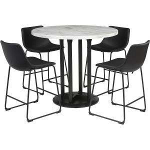 D372-23 5Pc COUNTER HT DINING SET