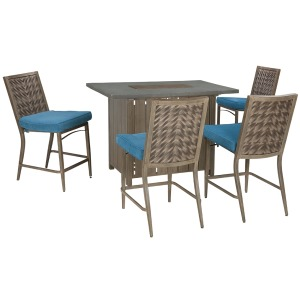 Partanna 5 Piece Outdoor Bar Set