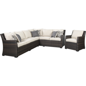 Easy Isle Sofa Sectional & Chair w/Cushion