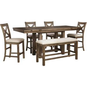 D631 6Pc CNTR Table Set W/Bench