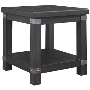 DELMAR BLACK END TABLE