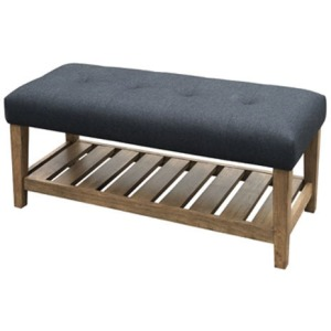 CABELLERO CHARCOAL ACCENT BENCH