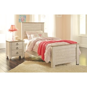 Willowton 4 PC Twin Panel Bedroom Set