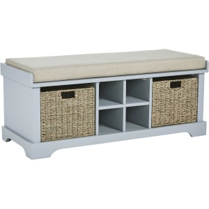 DOWDY GRAY STORAGE BENCH