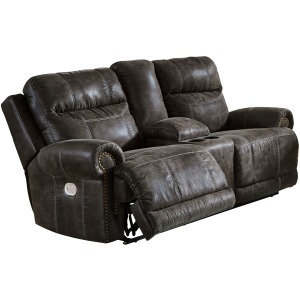 Grearview Power Reclining Loveseat with Console