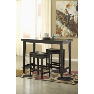 ASHLEY D250 3Pc Counter Table Set