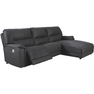 Henefer 3-Piece Reclining Sectional with Chaise and Power
