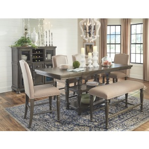 ASHLEY D637 6PC CNTR DNG Set