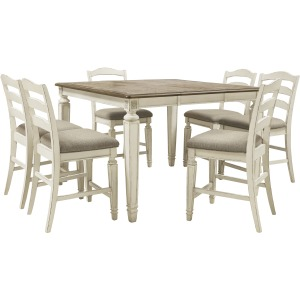 Realyn 7 PC Counter Height Dining Set