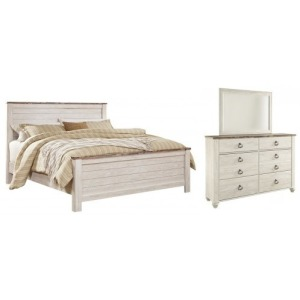 Willowton 3 PC King Panel Bedroom Set