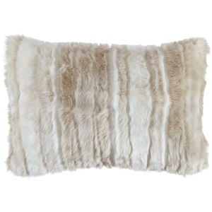 AMORET FAUX FUR KIDNEY PILLOW