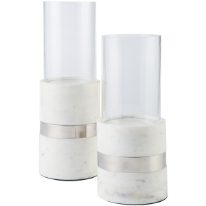 GRACELYN MARBLE CANDLE HOLDER SET