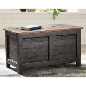 DASHBURY BLACK STORAGE TRUNK