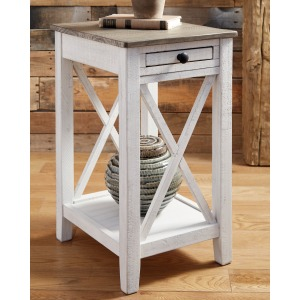 ADALANE WHITE ACCENT TABLE