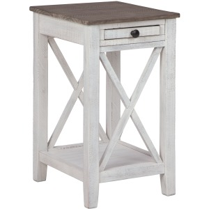 ADALANE WHITE ACCENT TABLE