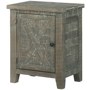 PIERSTON GRAY ACCENT CABINET