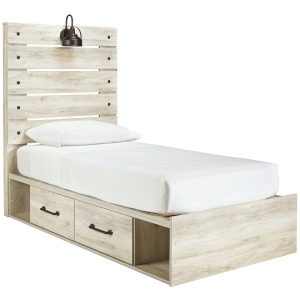 Cambeck Twin Panel Bed with Side Storage