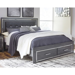 Lodanna King Panel Bed with Storage