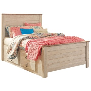 Willowton Twin Panel Bed with Storage