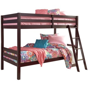 Halanton Twin over Twin Bunk Bed with Ladder