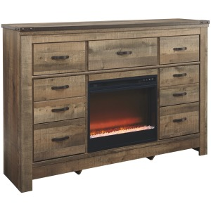 Trinell Dresser with Fireplace
