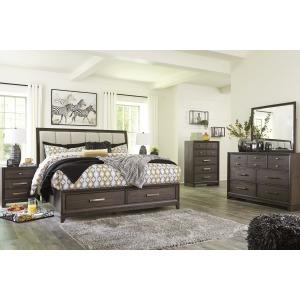 Brueban 5 PC Queen Panel Storage Bedroom Set