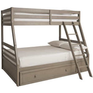 Lettner Twin Over Full Bunk Bed with Storage