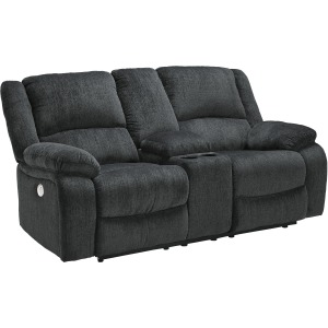 DRAYCOLL SLATE POWER RECL LOVESEAT