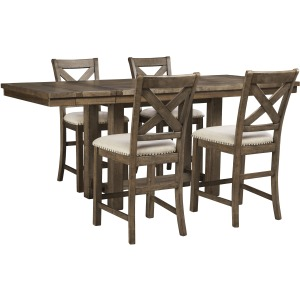 Moriville 5 PC Counter Height Dining Set