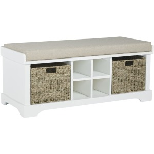 DOWDY WHITE STORAGE BENCH