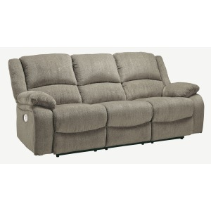 DRAYCOLL PEWTER POWER RECL SOFA