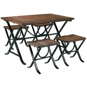 FREIMORE TABLE AND 4 STOOLS