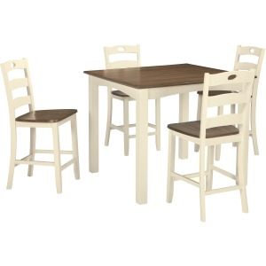 Woodanville Counter Height Dining Room Table and Bar Stools (Set of 5)