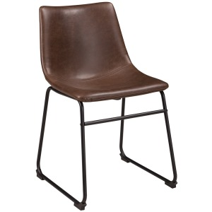 CENTIAR UPHOLSTERED CHAIR     BROWN
