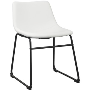 CENTIAR UPHOLSTERED CHAIR     WHITE