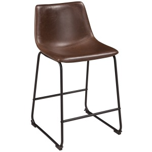 CENTIAR UPHOLSTERED BARSTOOL BROWN