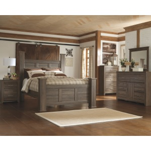Juararo 4 PC Queen Poster Bedroom Set