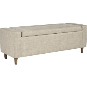 WINLER BEIGE UPHOLSTERED BENCH