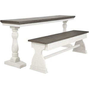 Braelow Dining Room Table and Bench (Set of 2)