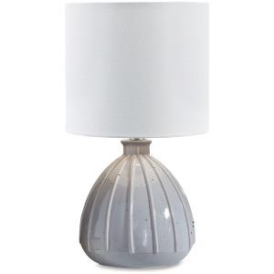 GRANTNER GRAY CERAMIC TABLE LAMP